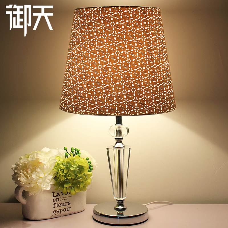 Royal days remote control led lamp bedroom lamp bedside lamp creative fashion european crystal table lamp dimmer living room den