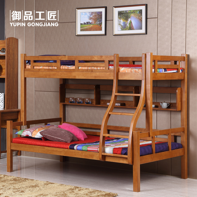Royal goods craftsman oaken chinese solid wood bunk bed bunk bed children bed picture bed bunk bed bunk bed mother and child bed furniture