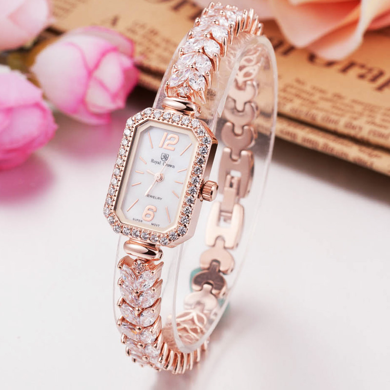Royalcrown luoyakelang generous fashion ladies diamond bracelet watch diamond watch quartz watch female form 3809