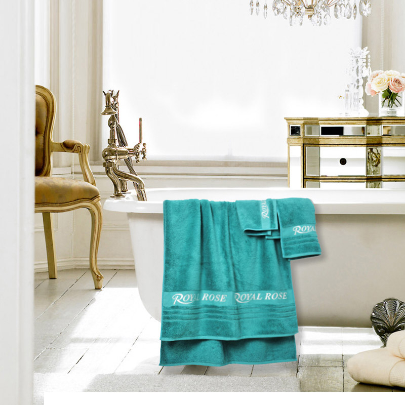 Royalrose large bath towel cotton towel cleansing towel gift three sets of soft thick cotton bath towels absorbent