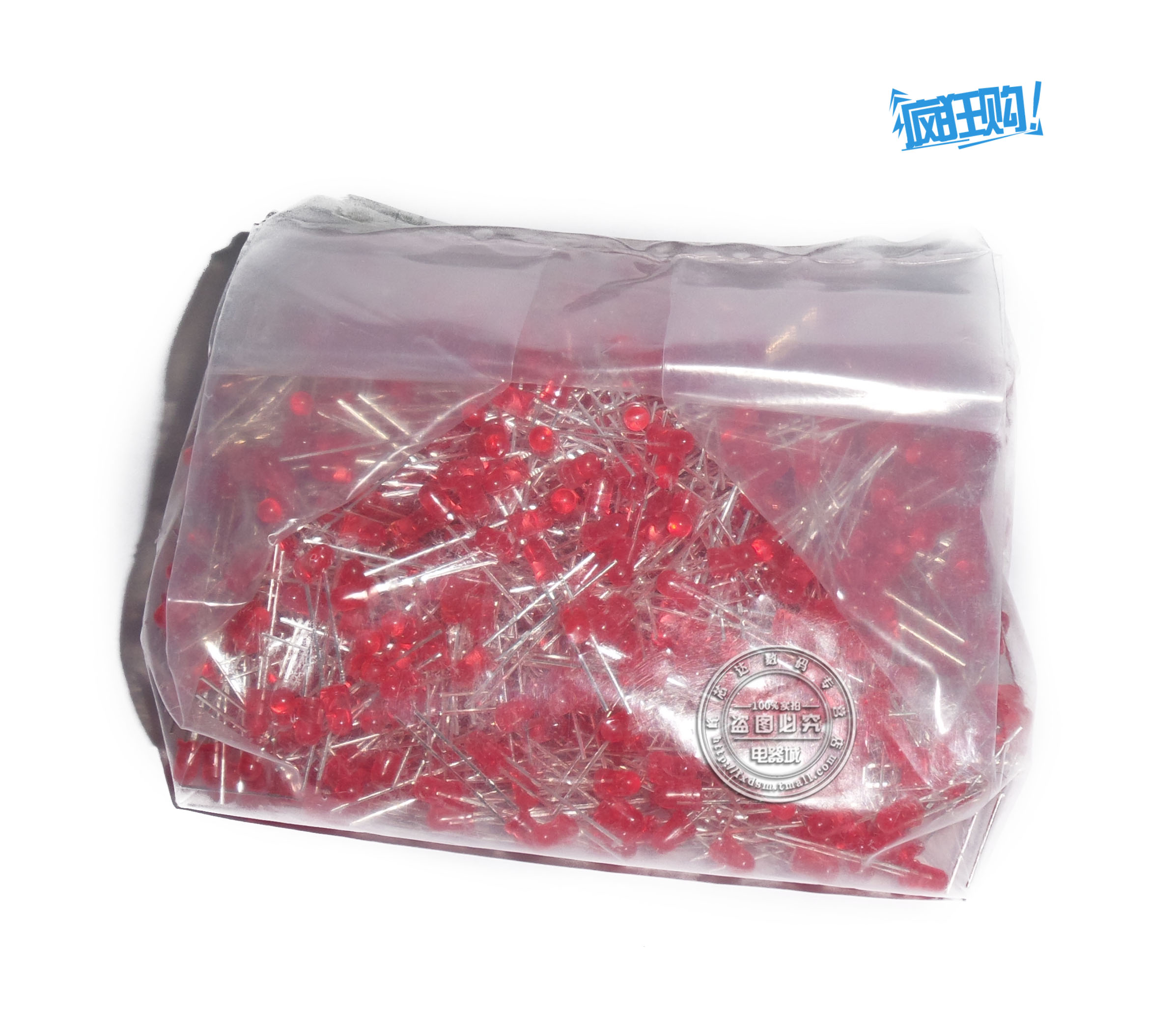 Rui broadcast shu red led lights red red bright led light emitting diode 3 MM a pack of 1000