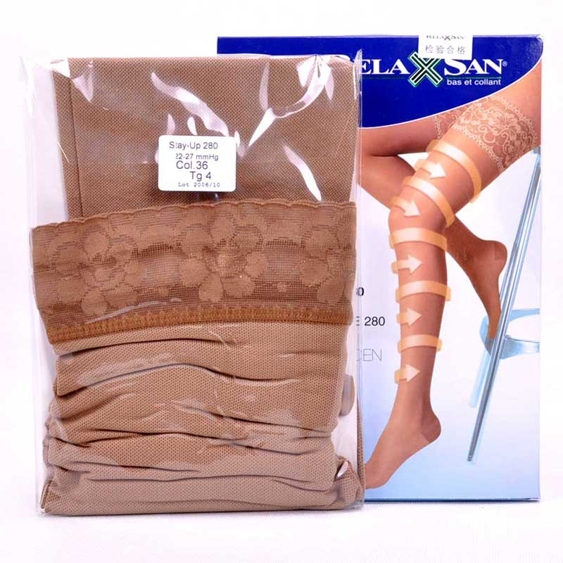 Rui lansen relaxsan imported elastic good yakushuji varix thigh socks female socks 970