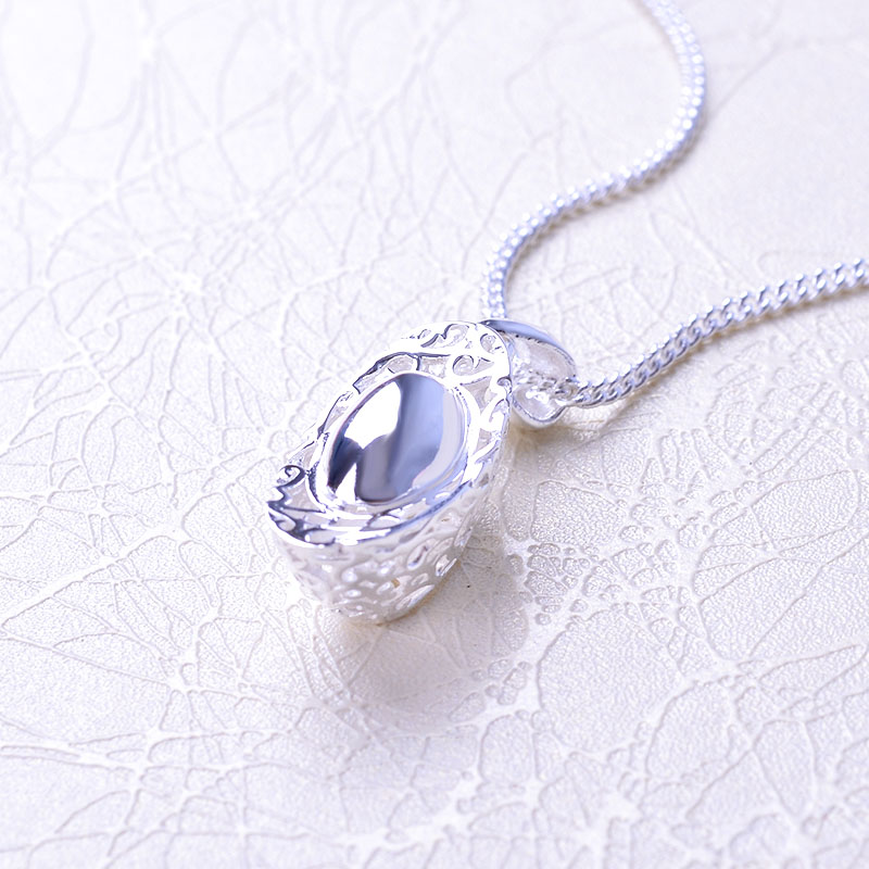 Ruifeng silver fine silver ingot pendant short paragraph clavicle chain necklace chinese wind hollow female