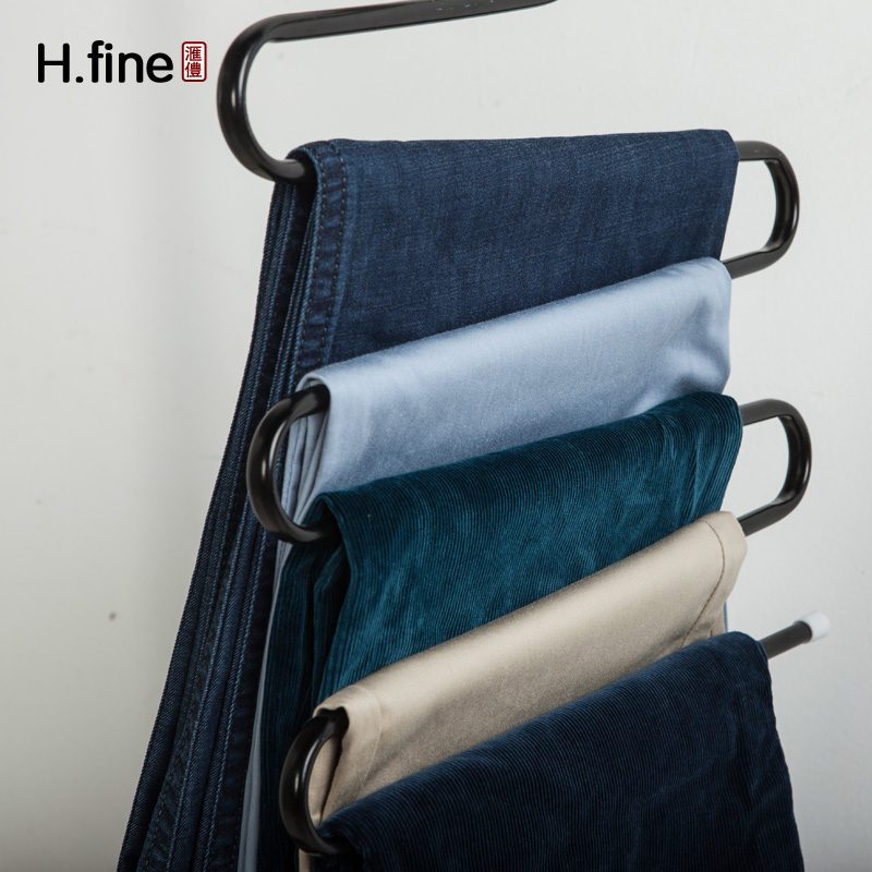 S type multilayer pants rack clothing store home wardrobe hanging clothes hangers slip pants pants hanging storage rack continental