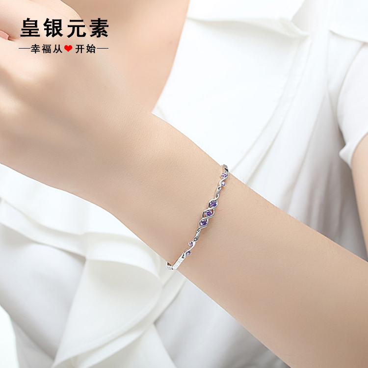 S925 silver bracelet female korean version of sweet wild bracelet jewelry birthday gift to send his girlfriend a gift