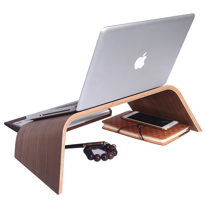 Samdi apple macbook laptop stand cervical office increased desktop wooden shelf base