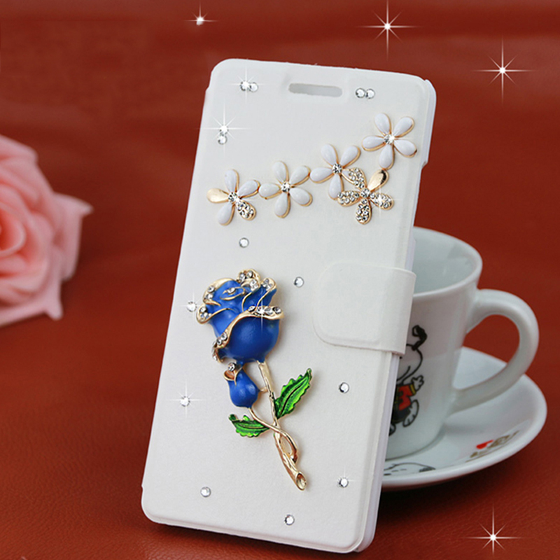 Samsung galaxy on5 on5 g5500 rhinestone flip leather protective sleeve samsung mobile phone shell holster shell female g550