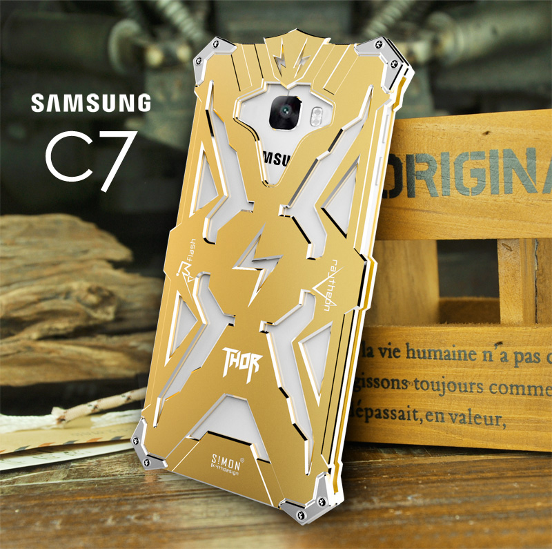 Samsung phone shell drop resistance of c6-c7 c5 c5 c7 mobile phone protective sleeve metal frame metal shell mobile phone shell of c6-c7