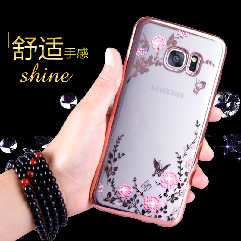 Samsung s7edge G9350 phone shell mobile phone sets diamond simple soft surface thin silicone protective shell female models
