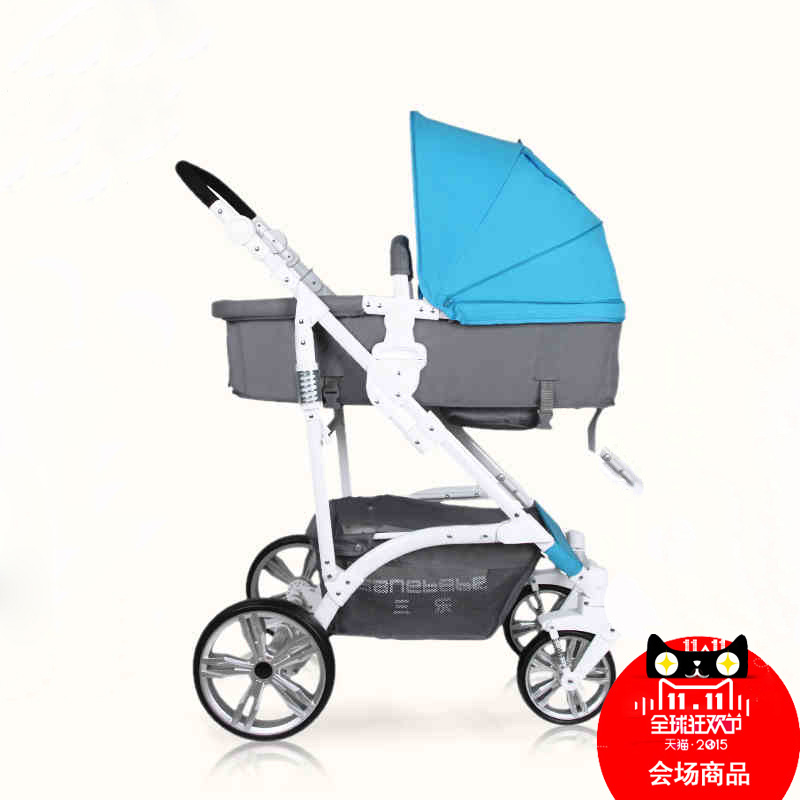 Sanle baby stroller high landscape four shock absorbers can sit reclining stroller lightweight folding treasure treasure stroller stroller free shipping