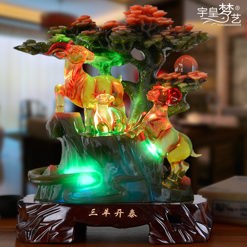 Sanyangkaitai sheep ornaments crafts furnishings home decorations living room tv cabinet office furnishings housewarming ceremony