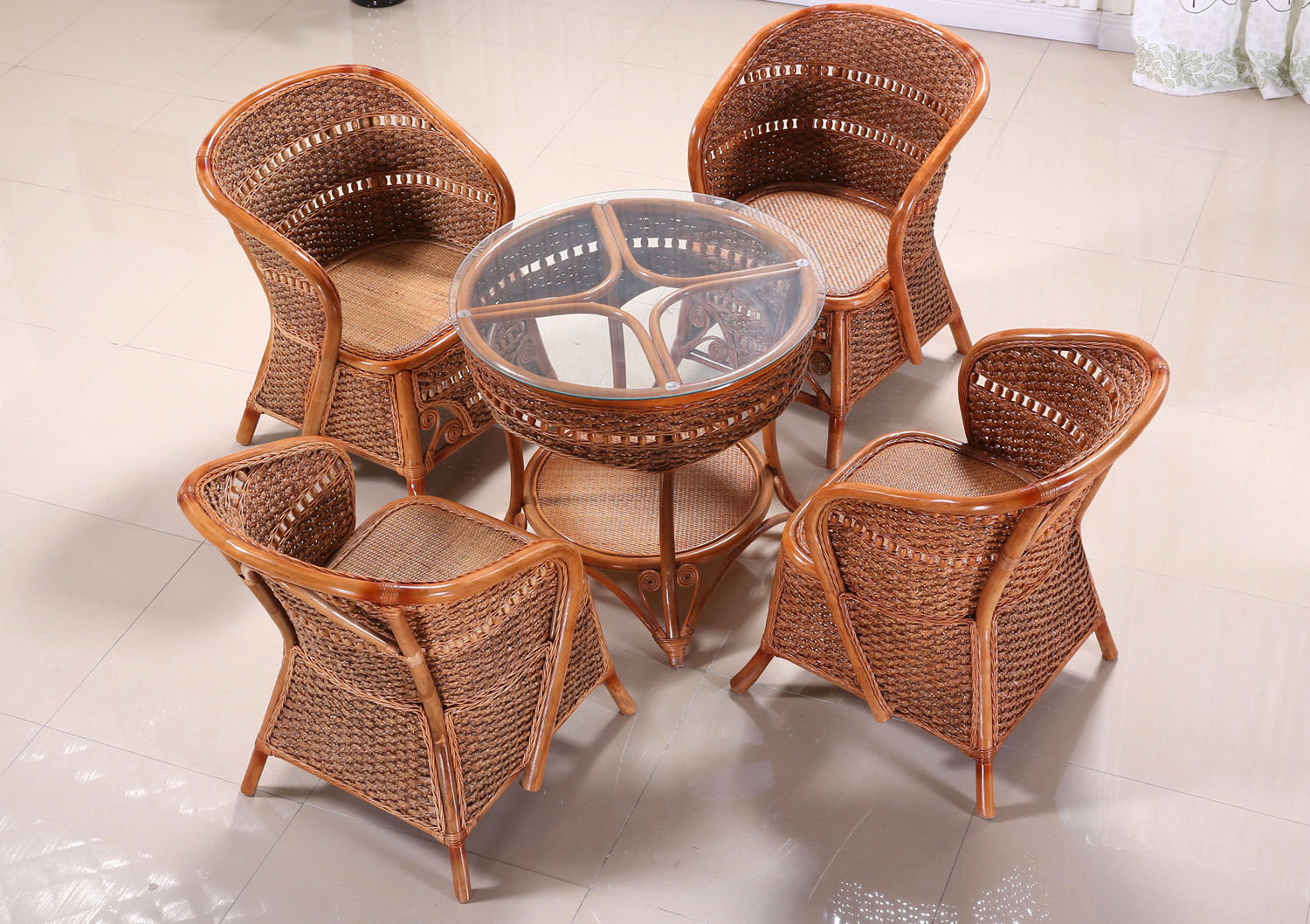 Sarah wicker chair really rattan chairs coffee table five sets of three sets of combination really rattan products high special