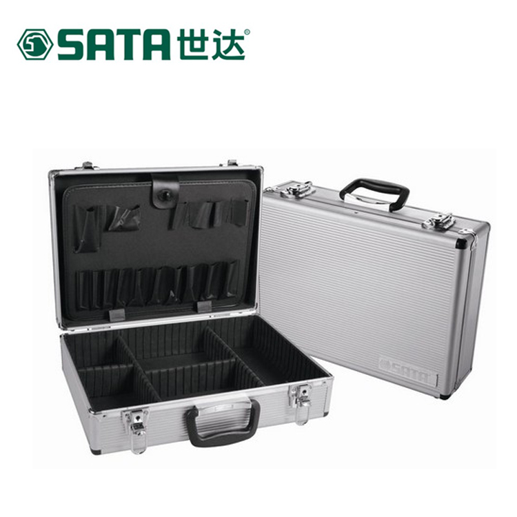 Sata cedel hardware maintenance electrician toolbox multifunction large storage box aluminum toolbox 03 601