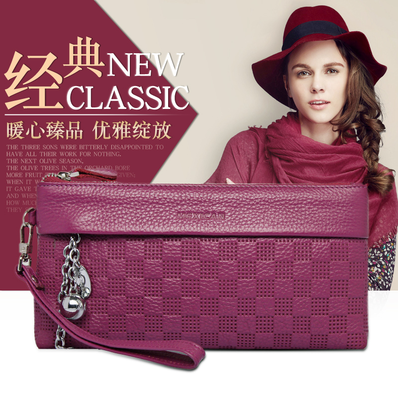 Scarecrow female long section zipper cosmetic bag new clutch wallet women wallet female fashion mother's day gift