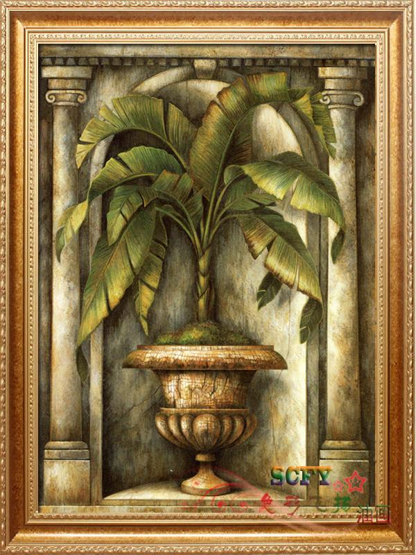 Scfy pure hand painted oil painting frameless decorative painting framed modern new southeast asian style thai cut flowers plants