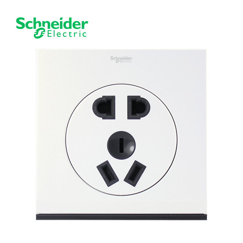 Schneider ulti ulti series 10a switch socket two or three pole five hole socket 86 type panel pearl white