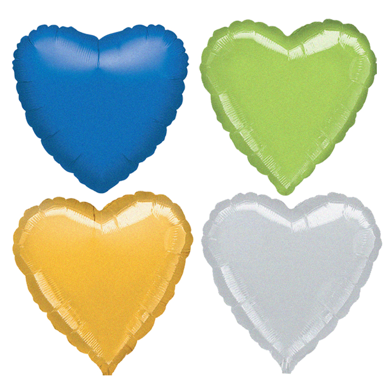 School children/anagram balloons/decoration/birthday supplies/19 inch laser heart foil balloon/1 100个