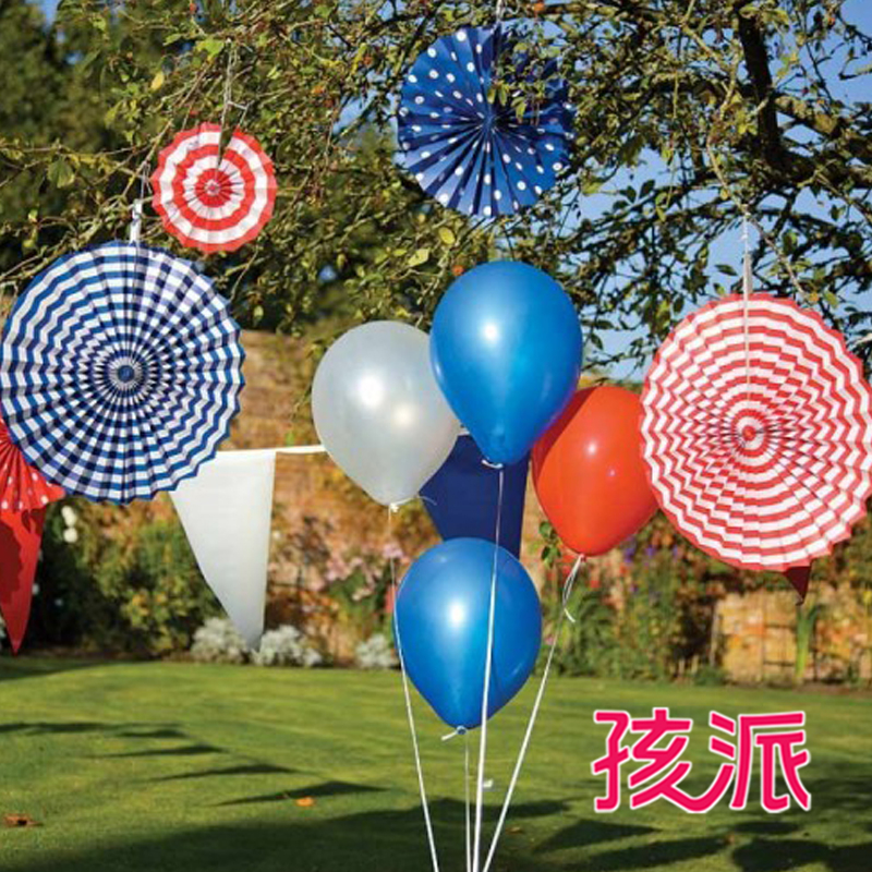 School children single dot paper fan wedding birthday party supplies decorative paper flowers arranged 20 cm