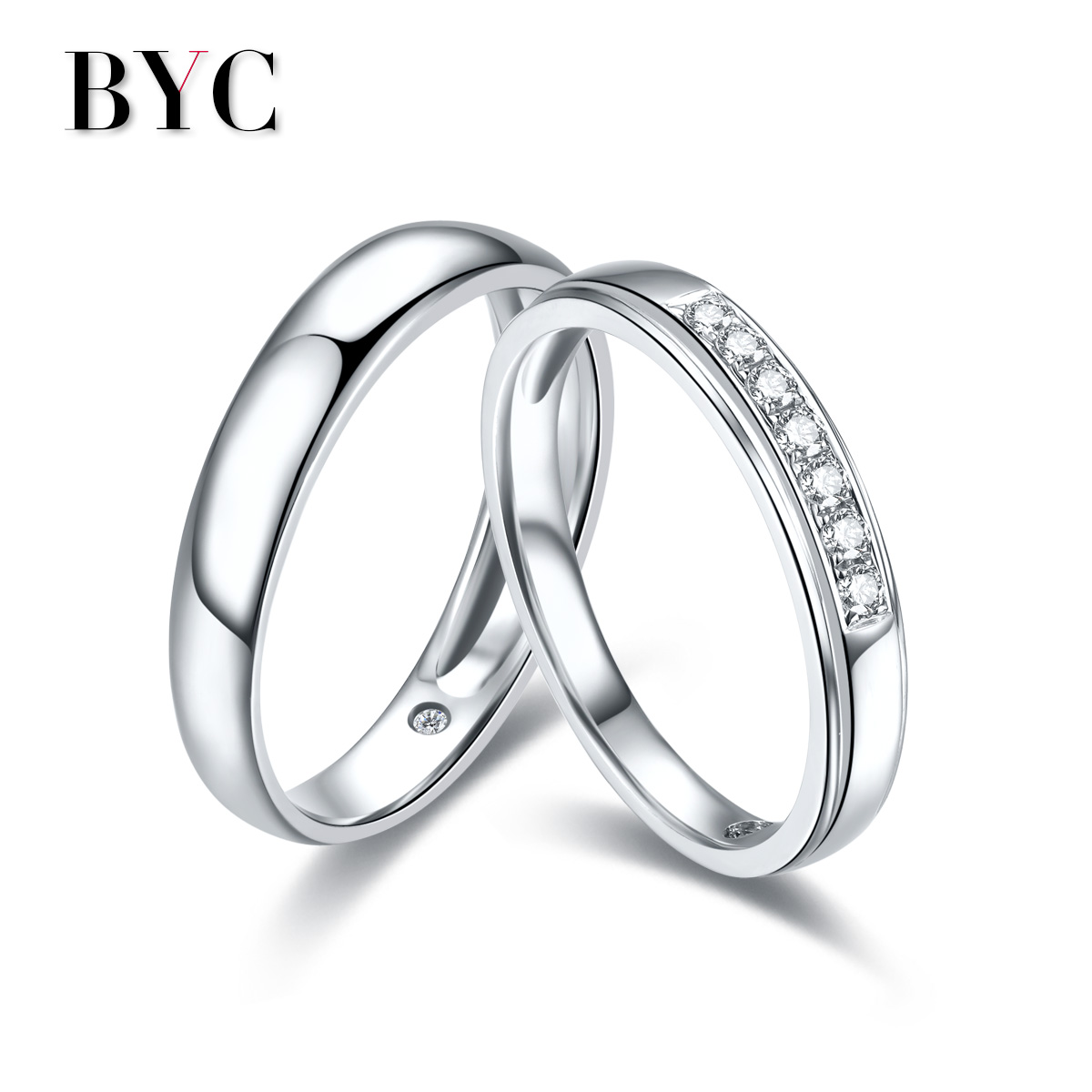 Schroder chang byc k white gold diamond ring diamond rings for men and women group inlay wedding ring counter genuine