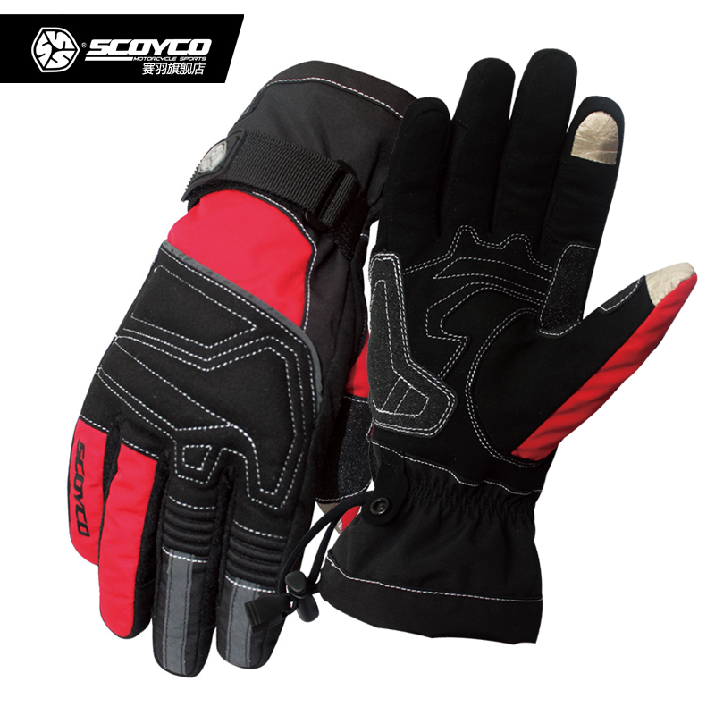 Scoyco game birds touchpads waterproof windproof warm gloves motorcycle gloves racing gloves riding car winter