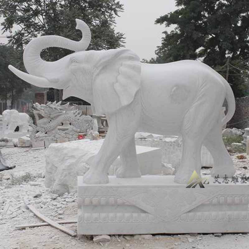 [Sculpture] yizhi speaker specializing in the production of sculpture stone carving marble stone elephant elephant nose AZ1168