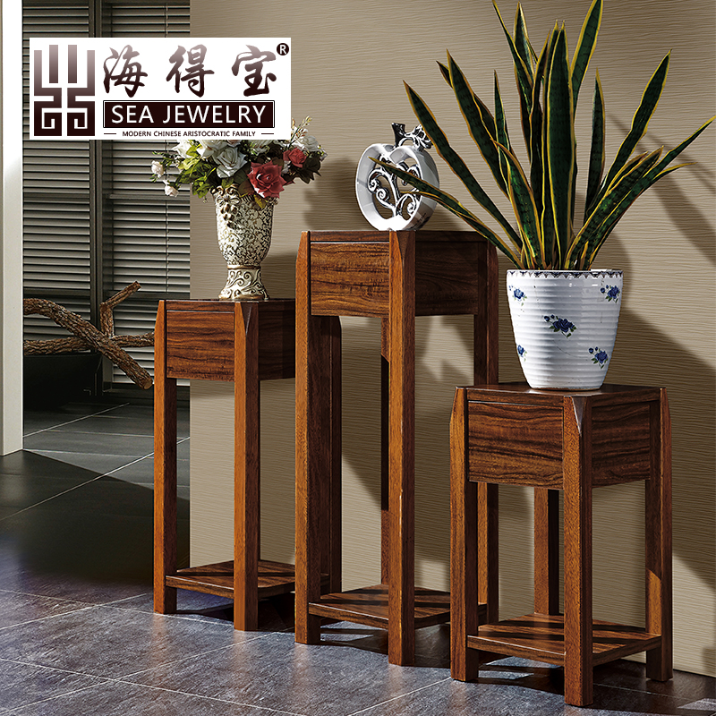 Sea depot ugyen wood color color flower pots flower wood frame frame new chinese wooden flower bonsai balcony frame