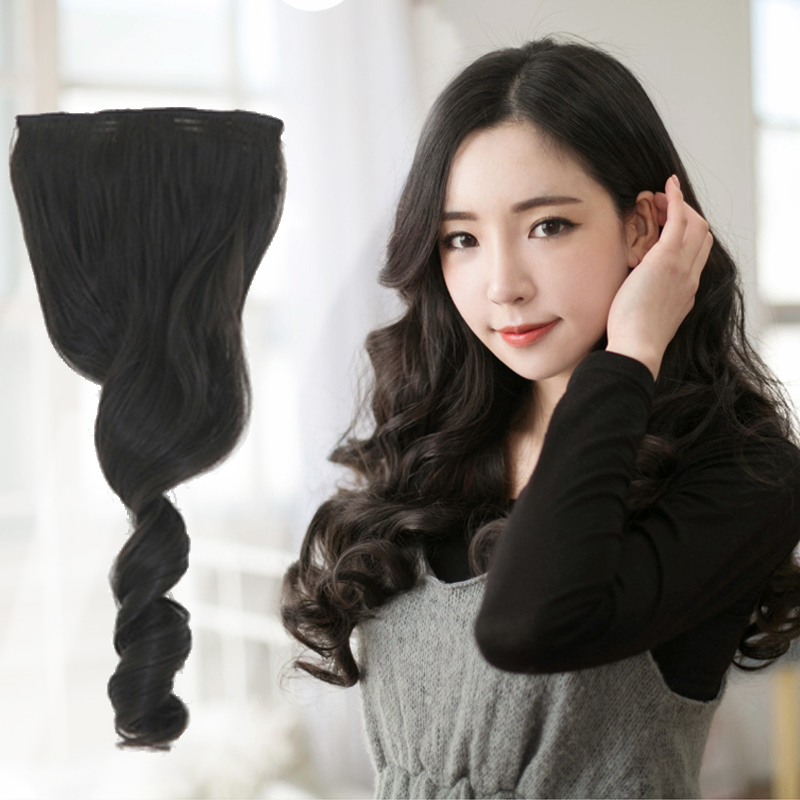 Seamless hair real hair straight hair piece hair real hair piece wig hair piece hair piece thickening