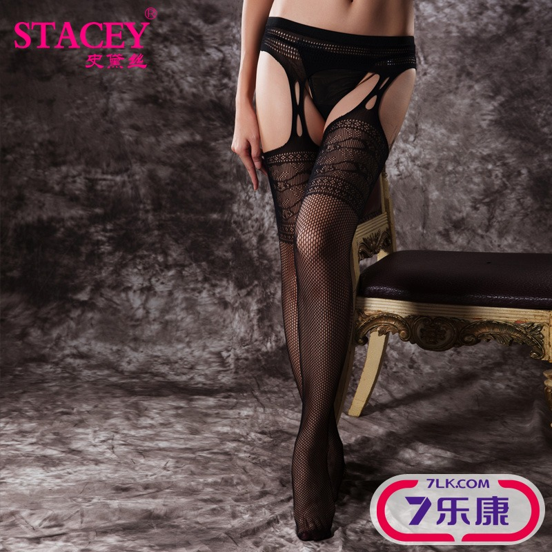 Seamless sexy net stockings sexy lingerie fishnet stockings open crotch pantyhose autumn and winter big yards high elastic force 11115