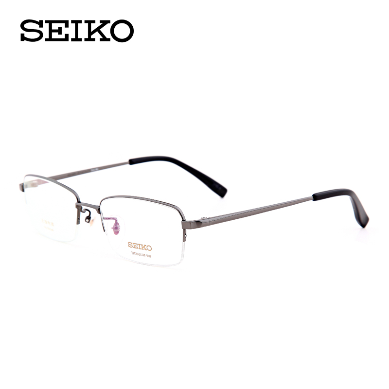 Seiko/seiko titanium frames myopia frames men's business ht01077 ultralight frame eye glasses half frame