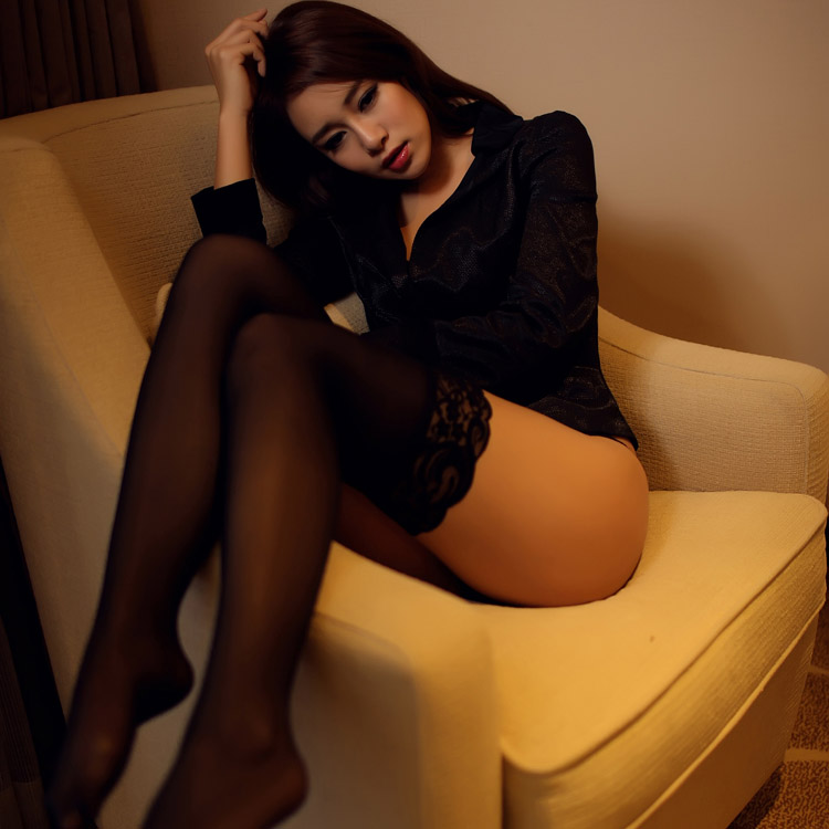 Selebritee lace trim lace stockings thin stockings sexy lingerie female temptation transparent sense of nature s