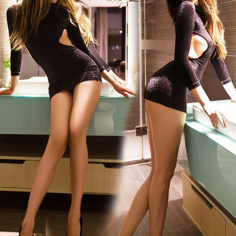 Selebritee love beautiful sexy lingerie uniform temptation flash back hollow package hip skirt nightclub dress 242
