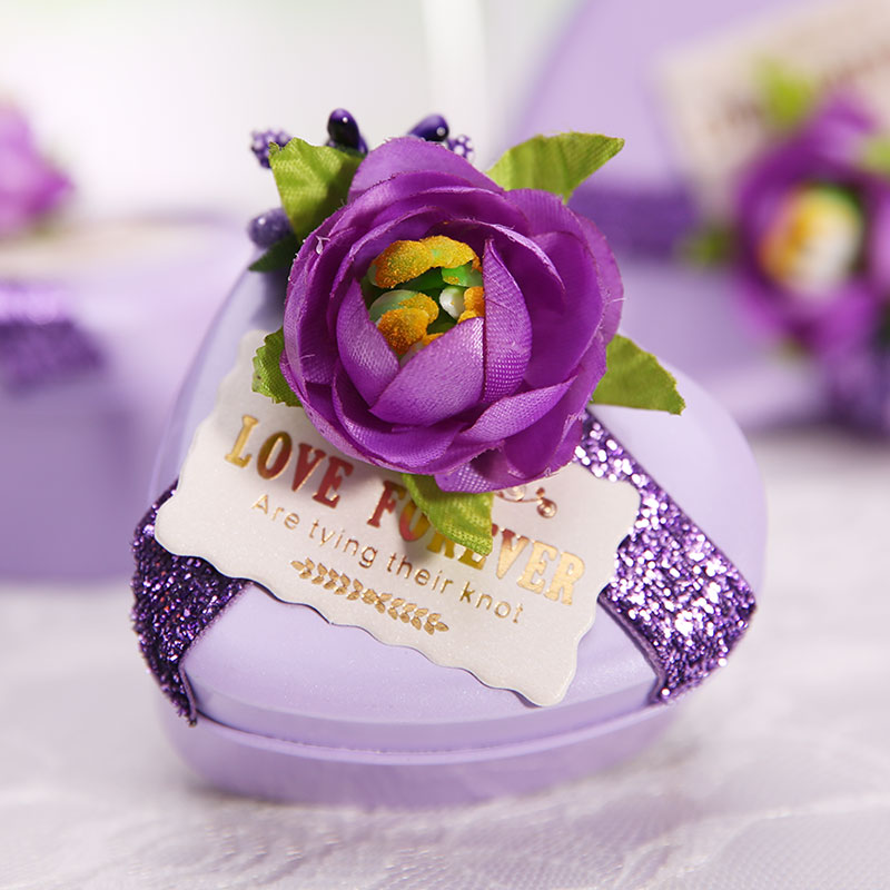 Sen department of creative wedding candy box gift tin box hi purple candy box candy box gift box with hand