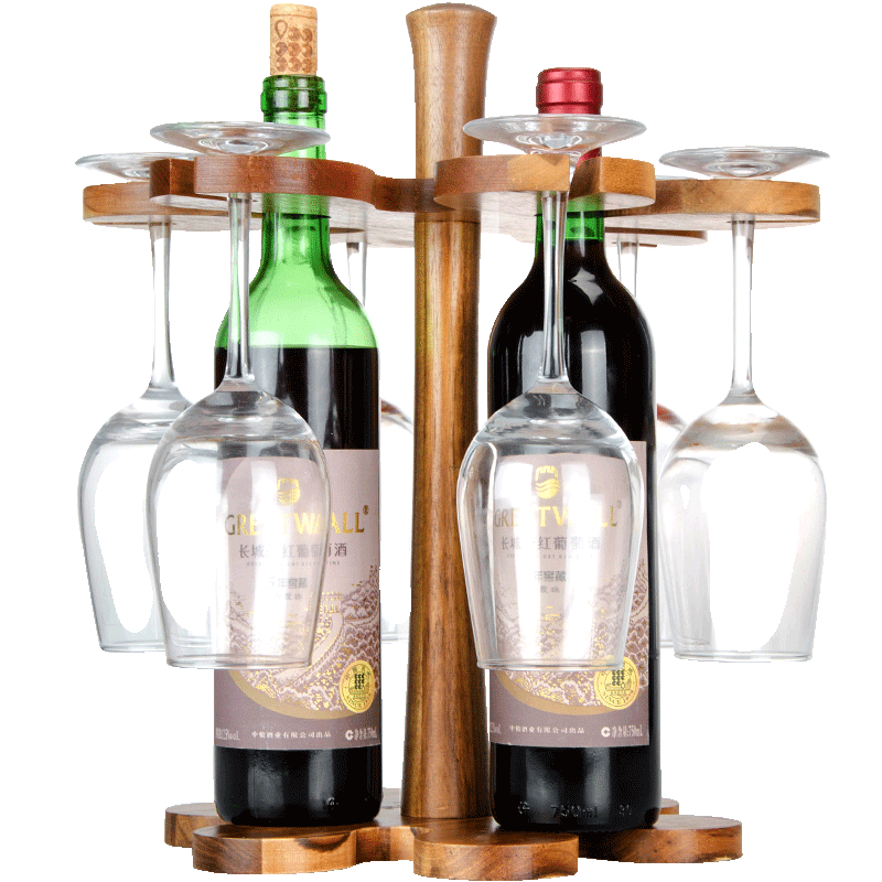 Sen too original solid wood ornaments wine rack wine cup holder cup holder wine goblet upside down cup holder creative wine rack wine rack cup holder