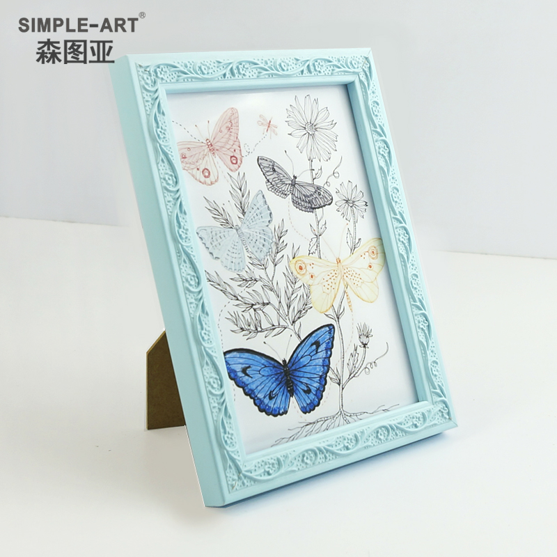 Sen tuya 5 inch 7 inch 10 inch wood frame studio carved wall swing sets creative photo frame picture frame photo frame
