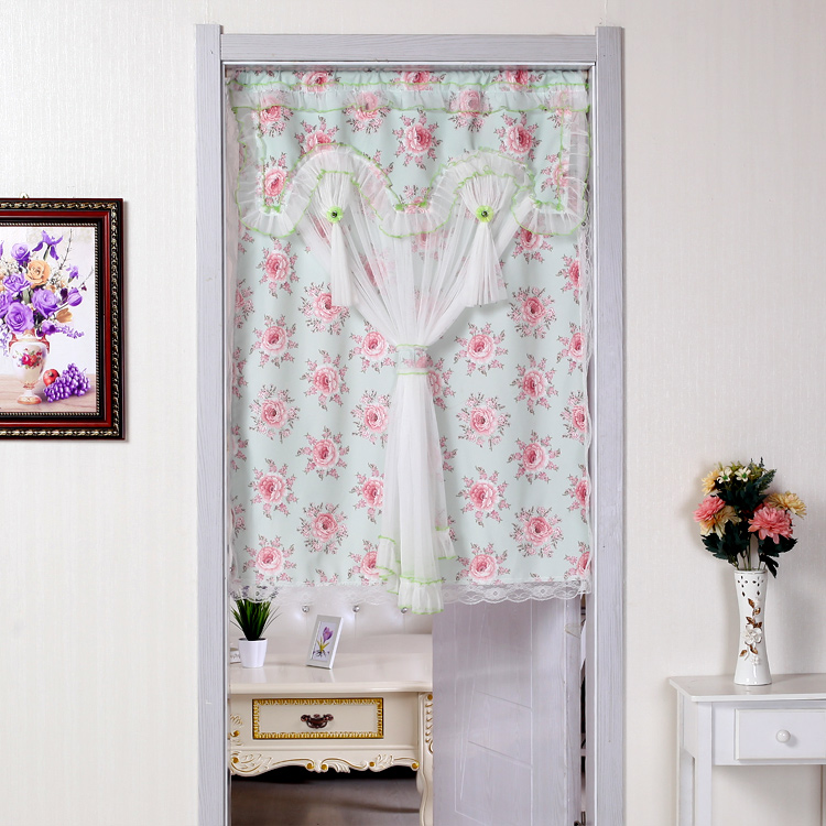 Get Quotations · Send The Rod Curtain Fabric Curtains Pastoral Kitchen Room  Bathroom Bedroom Curtain Air Curtain Partition Curtain