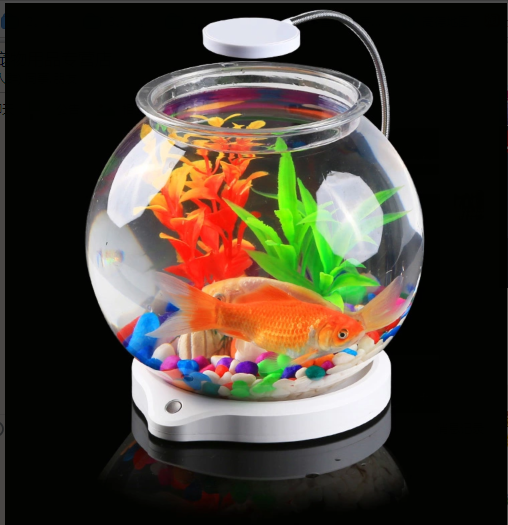 Sensen aquarium fish tank creative small mini desktop aquarium fish tank plastic aquarium ecology small aquarium fish tank aquarium led lights