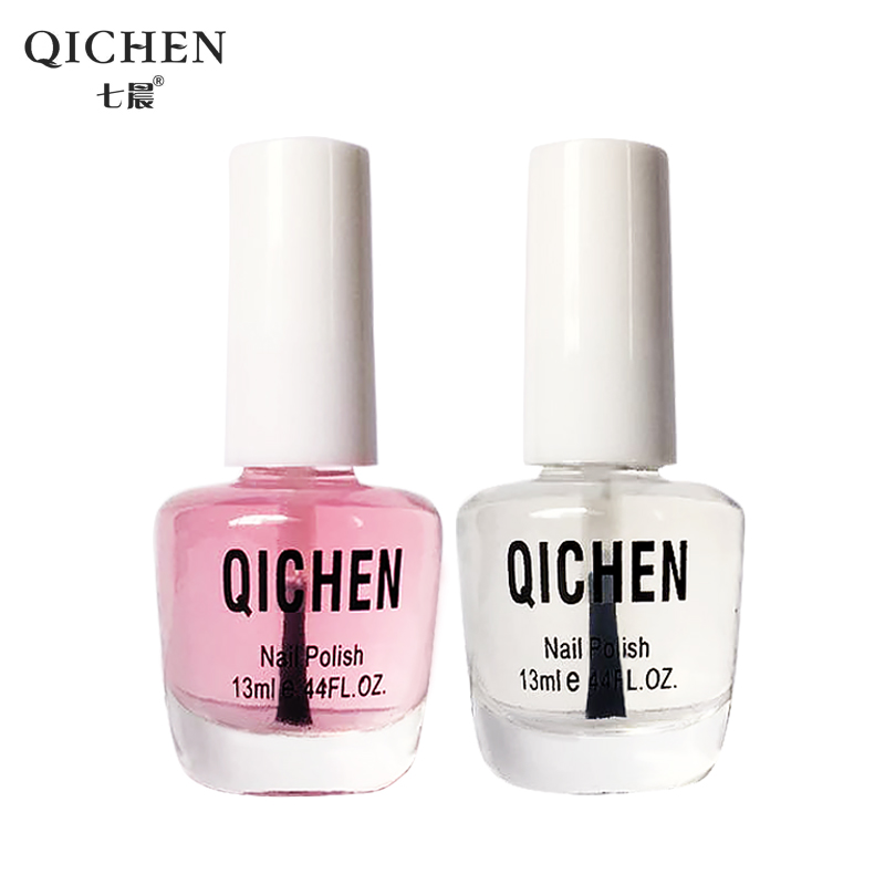 Seven in the morning transparent bottle of nail polish [2 set] armor light oil base oil nutrition oil calcium nonvenomous durable Nail art