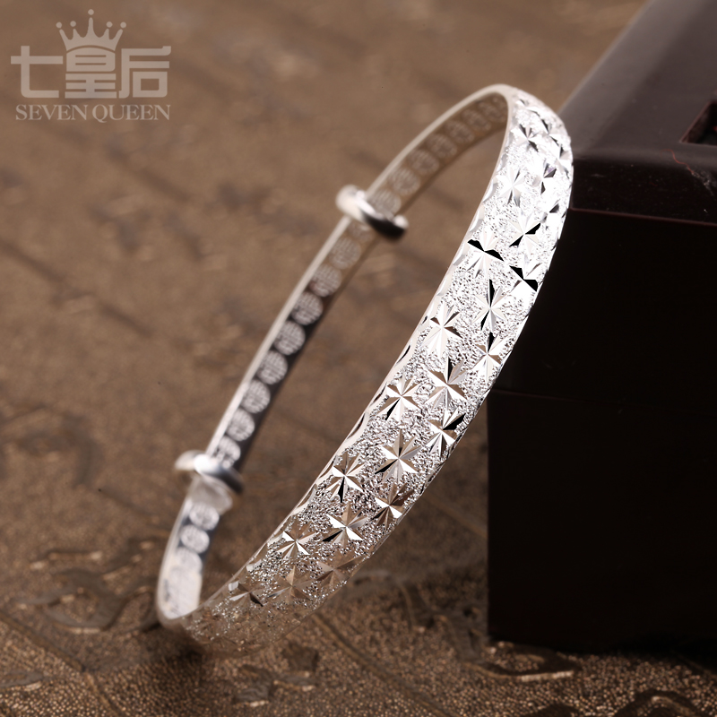 Seven queens south korean simple jewelry to send his girlfriend a birthday gift for her mother s999 fine silver bracelet female stars