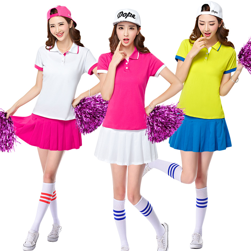 f086d0510ed21 Get Quotations · Sexy football baby cheerleader cheerleading apparel  cheerleading costumes stage performance clothing athletic meets groups  dance suit