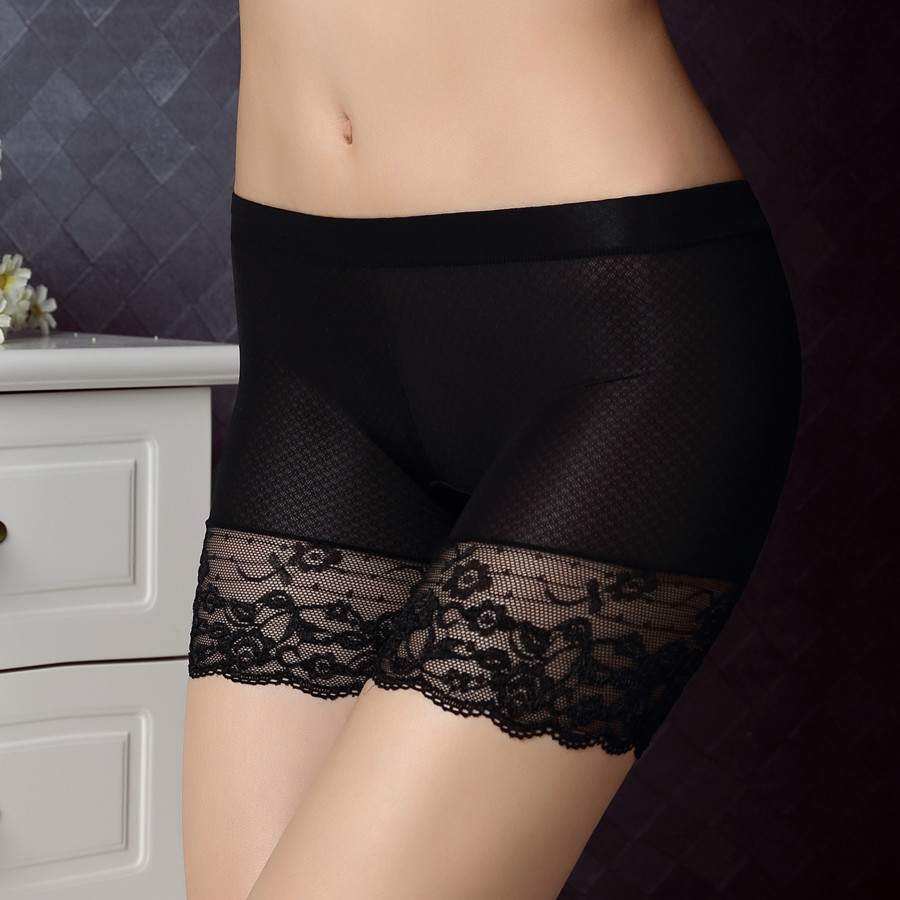Sexy lace jacquard lockrand security underwear thirds anti emptied bottoming female underwear