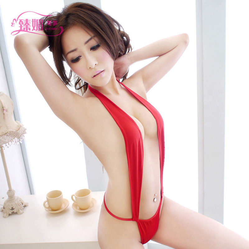 Sexy lingerie chest a backless halter leotard adult contains adult female bikini pajamas sao acb