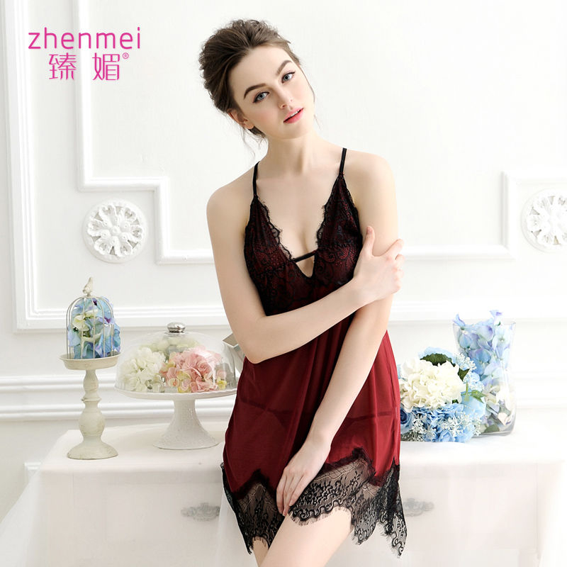 Sexy lingerie female chest a transparent lace suspenders skirt suit pajamas adult contains adult sao acb