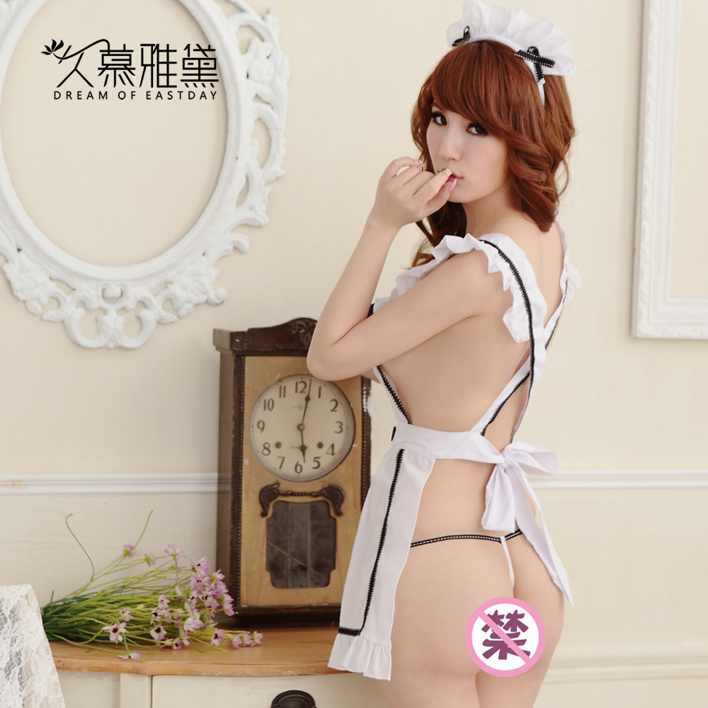 Sexy lingerie sexy suit innocent maid outfit uniform temptation transparent lace chest a skirt wai meng department cute accessorise ss