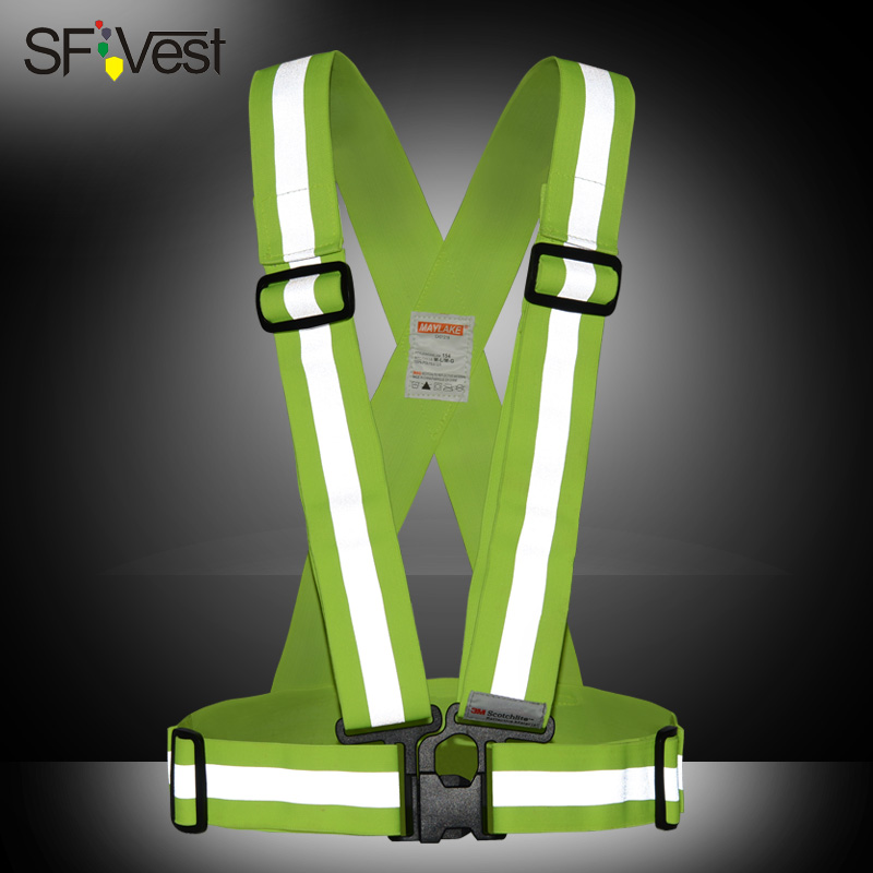 Sfvest reflective straps mountain bike night riding reflective vests outdoor running an entire vest m reflective vests