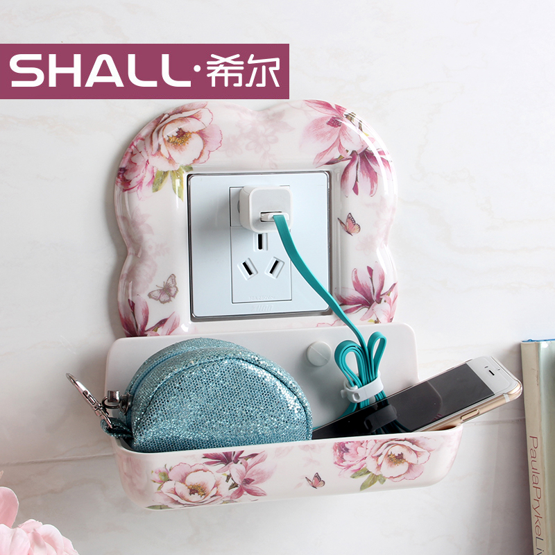 Shall/hill continental multi switch stickers affixed creative outlet switch stickers wall stickers protective sleeve with storage basket