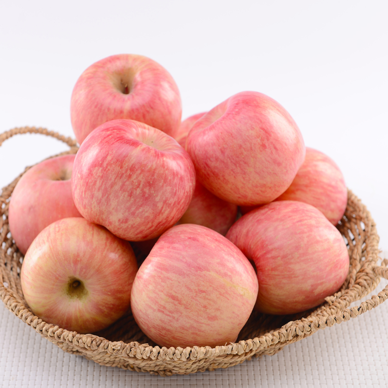 Shandong yantai red fuji apple fresh fruit qixia fuji apple fruit large fruit 5 shipping