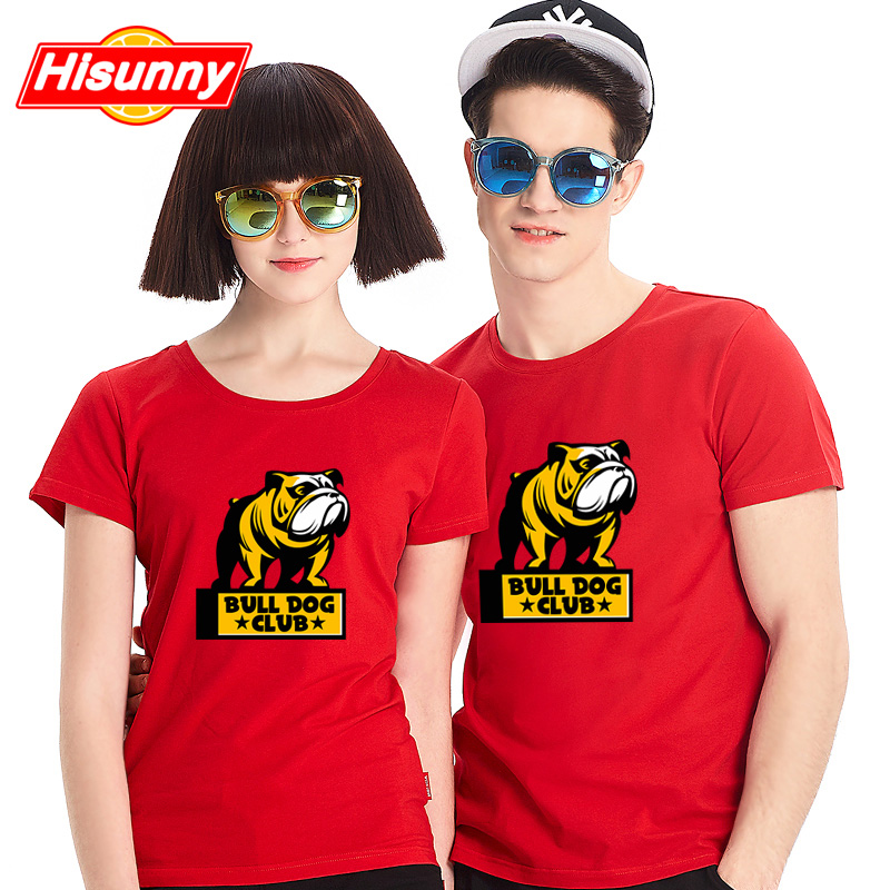 Shang hai beauty 2016 new korean men and women lovers summer personality loose short sleeve t-shirt printing t-shirt yeller