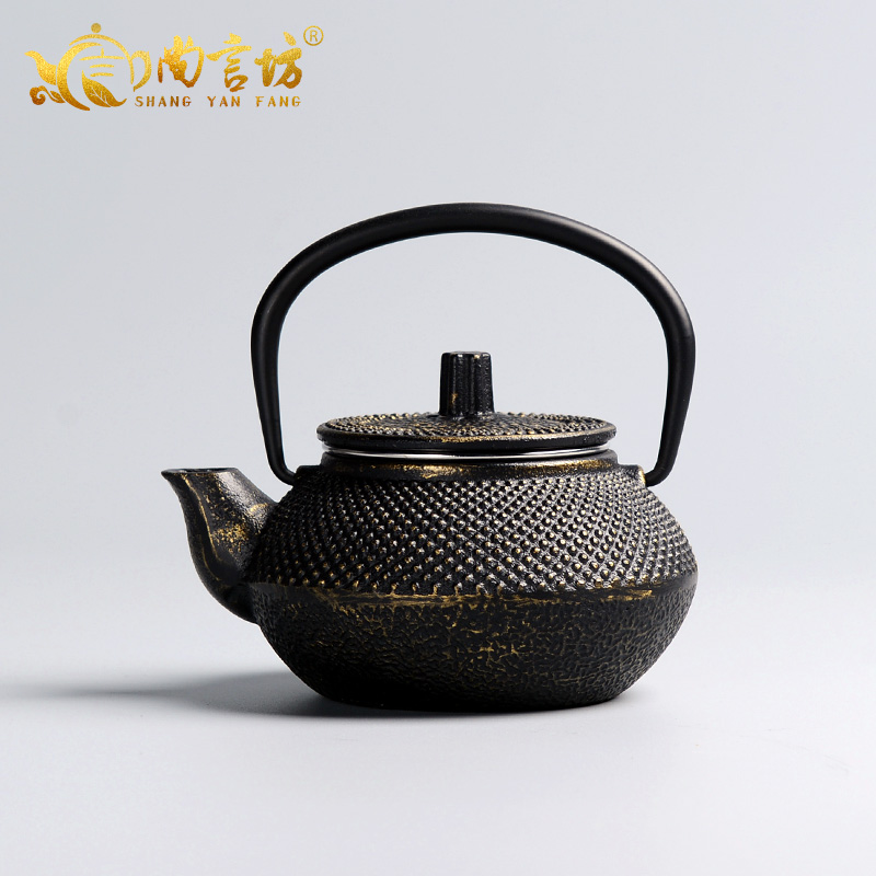 Shang yan fang pot cast iron pot iron teapot cast iron pot large capacity teapot kettle boils ding 0.3l