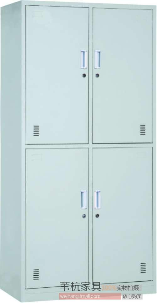 Shanghai 4 four door wardrobe cupboard cabinet bathroom cabinet bathroom cabinet staff lockers locker padlock genuine factory direct