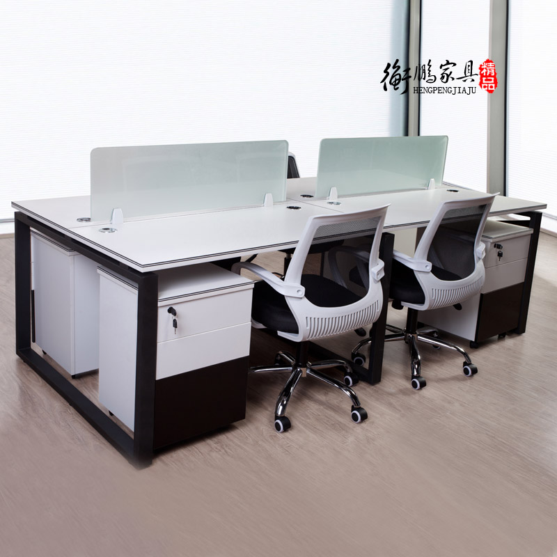Shanghai beijing office furniture modern minimalist wall desk staff employee computer foursome office furniture